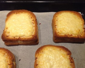 Croque monsieur saumon