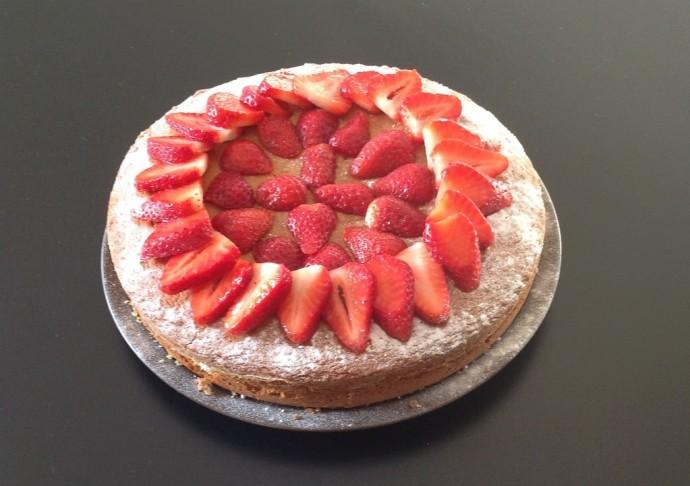 Gâteau coco fruits rouges