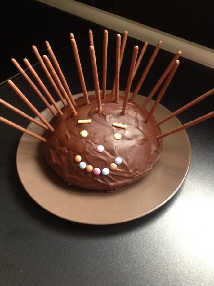 Gâteau en forme de tête