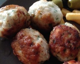Boulettes d'escalope de poulet haché