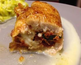 Escalopes roulées mozzarella tomates basilic