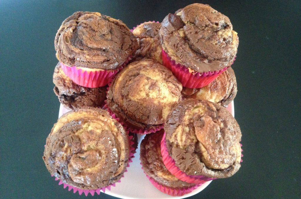 Muffins roulés au nutella