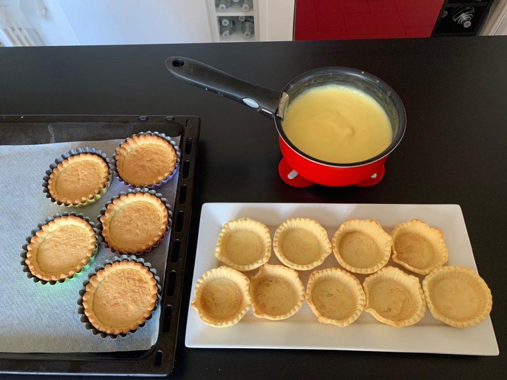 Tartelettes aux fruits - Creme patissiere- Recettes Delphine