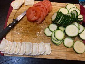 Tarte au pesto - Decoupe legumes fromage - Recettes Delphine