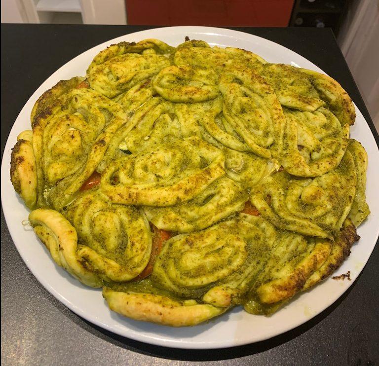 Tarte au pesto - Apres cuisson - Recettes Delphine