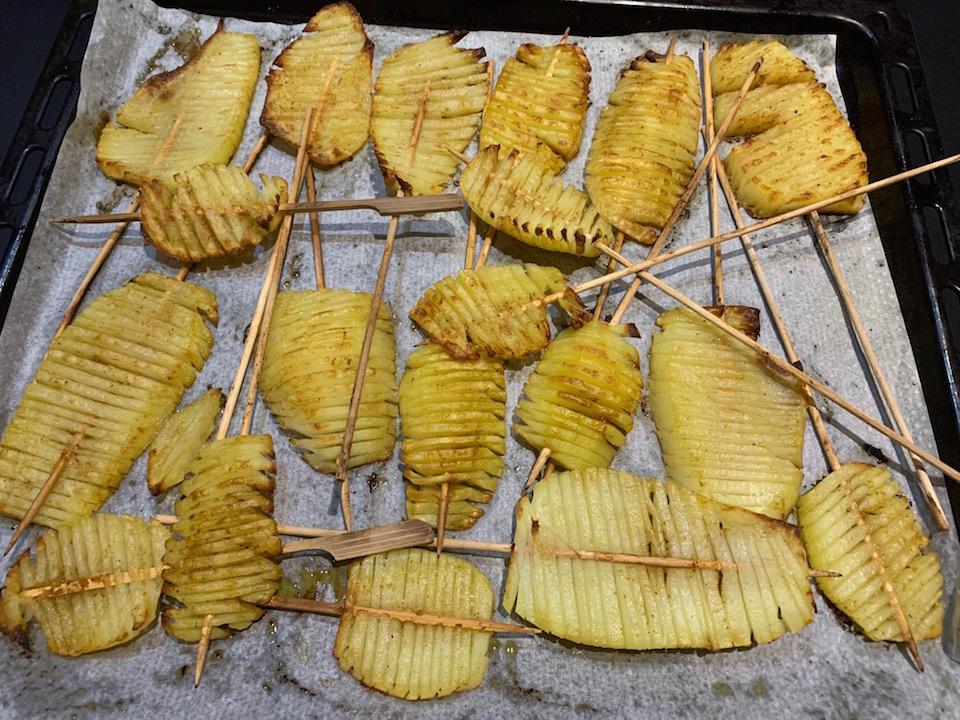 Pommes de terre swirl spirale - Après cuisson - Recette Delphine