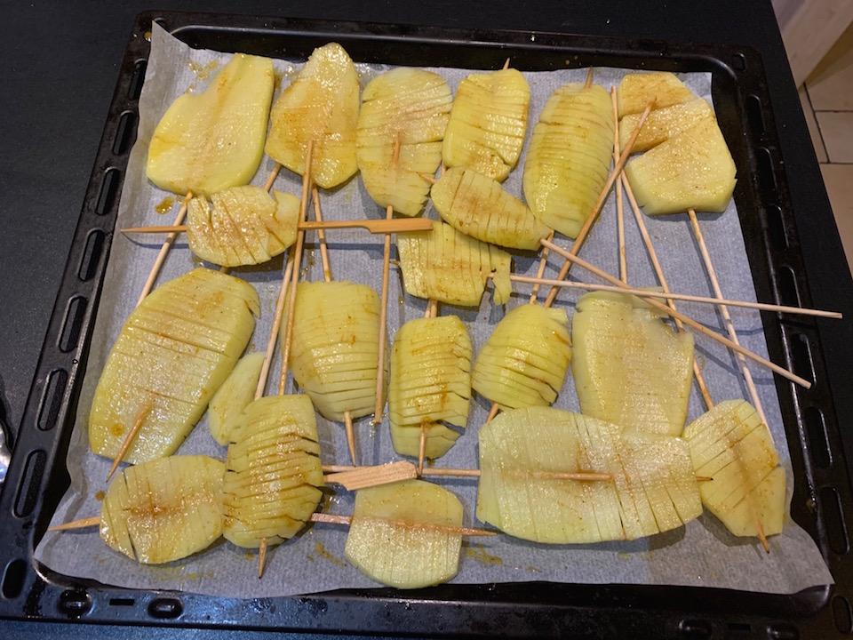Pommes de terre swirl spirale - Avant Cuisson - Recette Delphine