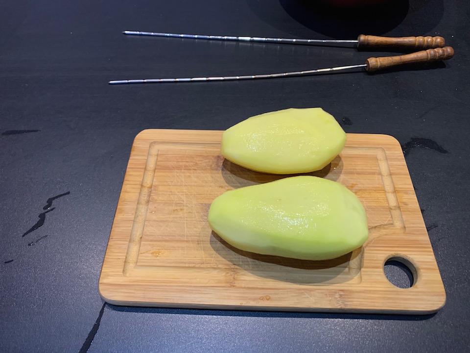 Pommes de terre swirl spirale - Découpe - Recette Delphine