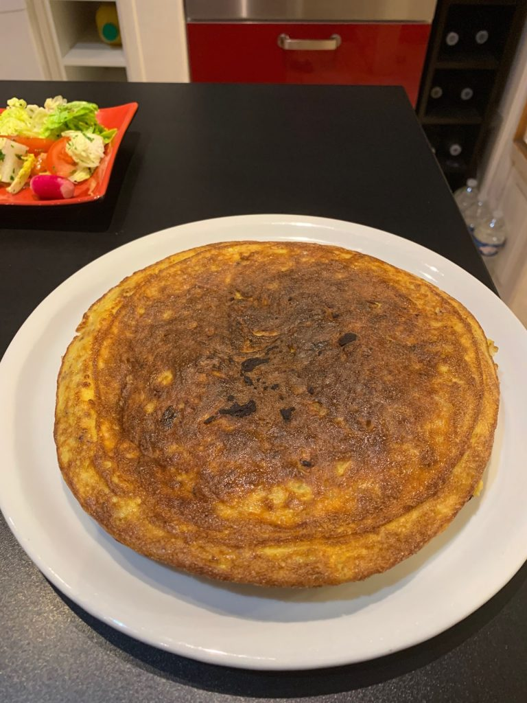 Tortilla jambon fromage